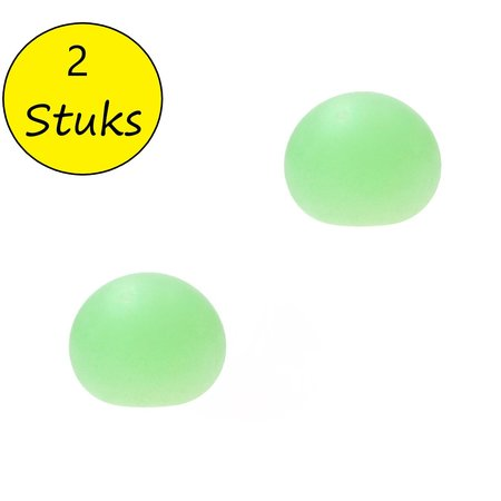 Banzaa Slijmbal met Glitters 2 Stuks – Squishy – Stressbal – Knijp Speelgoed – Groen