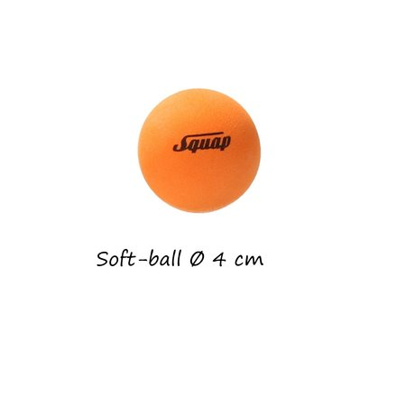 Squap Speel Ballen voor Buiten en Binnen 3 Stuks – Zachte bal Lichtgevende Bal en Staartbal – Buitenspelen – Zwart, Oranje