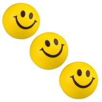 Emoji Stressbal 3 Stuks Smiley Soft Density Geel