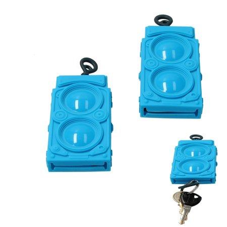 Present Time Present Time Sleutelhoes Subwoofer 2 Stuks – Sleutelcover Radio – Blauw