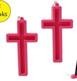 Present Time Present Time Telefoonhouder Heilig Kruis 2 Stuks – Standaard voor je Telefoon – Bureauhouder Mobiel – Roze