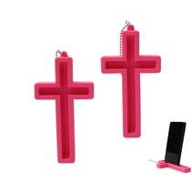 Telefoonhouder Heilig Kruis 2 Stuks Roze