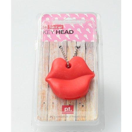 Present Time Sleutel Cover Rode Lippen 2 Stuks – Sleutelhoes – Rood