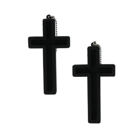 Present Time Present Time Telefoonhouder Heilig Kruis 2 Stuks – Standaard voor je Telefoon – Bureauhouder Mobiel – Zwart