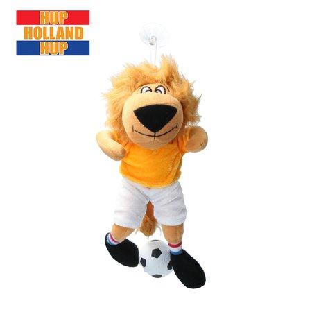 Banzaa Oranje hup Holland Pluche leeuw   zuignap Auto Mascotte 30cm