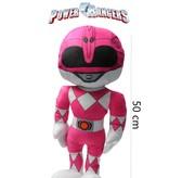 Power Rangers Power Ranger knuffel - pop 50 cm roze