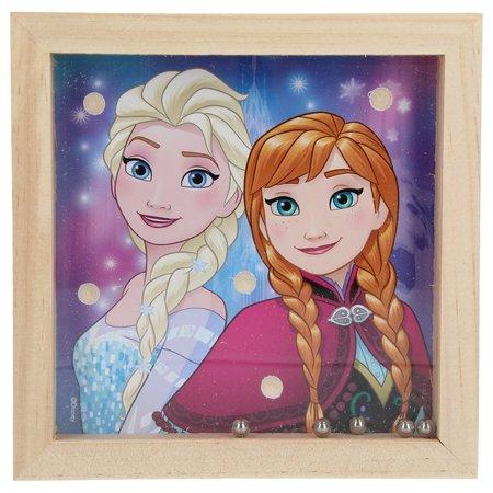 Disney Frozen Disney Frozen Houten geduldsspel met 5 balletjes – 14x14cm | Geduldspuzzel | Uitdagende Puzzels | Behendigheid Spelletjes