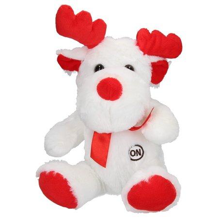 Banzaa Sunkid Pluchen Rendierknuffel met Led Verlichting – Rood Wit – 26cm | Speelgoed voor Jongens en Meisjes