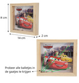 Disney Cars Disney Pixar Cars Houten Geduldsspel met 5 Balletjes – 14x14cm | Geduldspuzzel | Uitdagende Puzzels | Behendigheids Spel