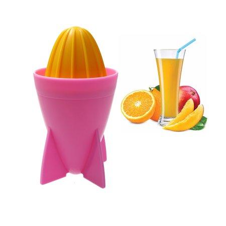 Present Time Present Time Citruspers – Sinaasappelpers 18cm – Juicer Rocket – Matthias Zschlager Design – Sapmaker – Roze