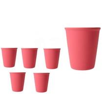 Cappuccino kop Set 6 Stuks Neon Roze