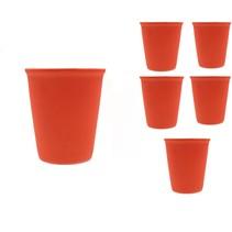 Cappuccino kop Set 6 Stuks Neon Oranje