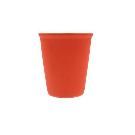 Present Time Present Time Cappuccino kop met Rubber Keramische Coating – Set 6 Stuks – Koffie Mok – Kopje – Silk Neon Oranje