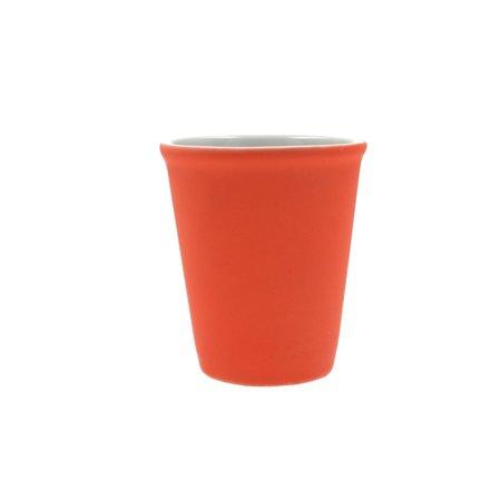 Present Time Present Time Espresso Kopje Porselein Rubber Coated Ceramic – Koffiekopje Set 6 Stuks – Espresso Beker – Silk Neon Oranje