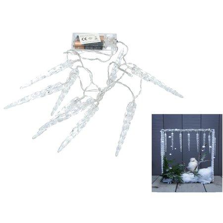 Banzaa 10 led verlichting ijspegels warm wit - 120cm