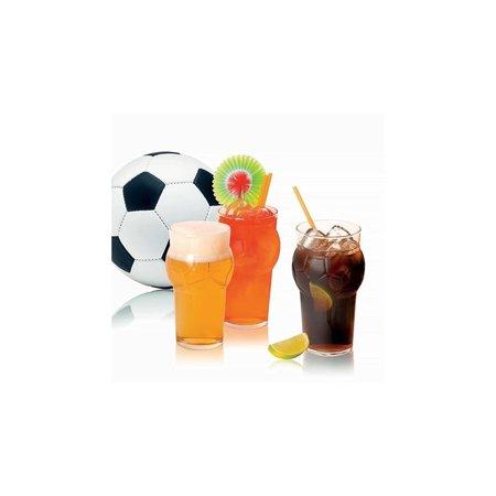 Banzaa Drinkglazen Voetbalvorm 2 stuks – Bekers van Glaswerk – Geschikt voor in de Vaatwasser