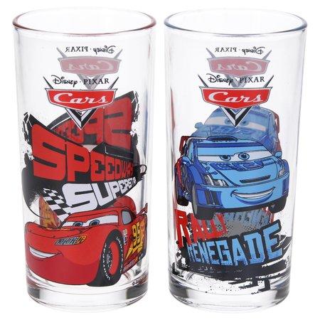 Disney Cars Disney Pixar Cars Drinkglazen set van twee drinkglazen – 13x6cm | Kinderbekers | Glas om uit te drinken