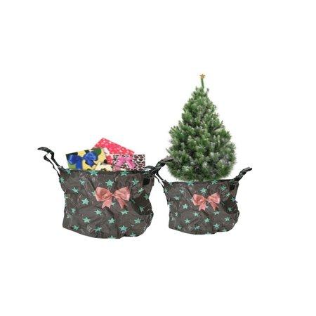 Present Time PT Kerstboomzak 2 Stuks Kerstboomrok – Kerstboomhuls – Bruin