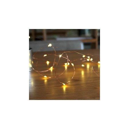 Banzaa 80 ledverlichting Warm Wit voor Indoor Gebruik met Koperdraad – 105 cm | Lichtsnoer Lampjes voor Feesten en Partijen | Sfeerverlichting