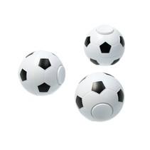 Fidget spinner voetbal rond Set 3 stuks anti stress zwart-wit