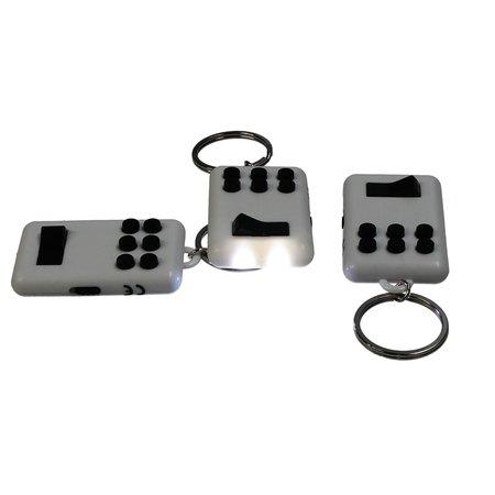 Banzaa Fidget pad Anti stress set 3 stuks Flip en Click Keylight Wit-Zwart