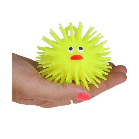 Banzaa Puffer Stressbal Squishy Toy Vis 8cm Geel
