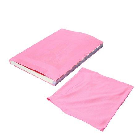 Banzaa Rekbare Boekenkaft voor Schoolboeken A4 2 Stuks roze – 18x30x1cm
