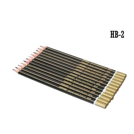 Nieki Nieki HB2 teken en schetspotloden Set 12stuks zwart