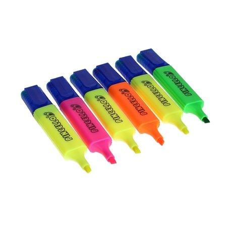 Pincello Pincello Markeerstiften Flurioserend kleuren set 6 stuks