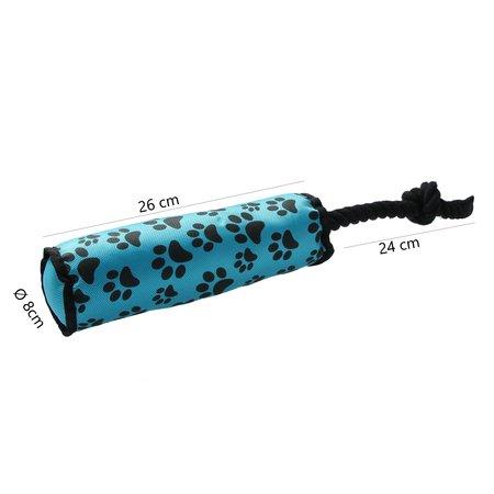 Banzaa Honden speeltouw - flostouw - blauw - 47,5 x 7,5 cm- set van 2 stuks