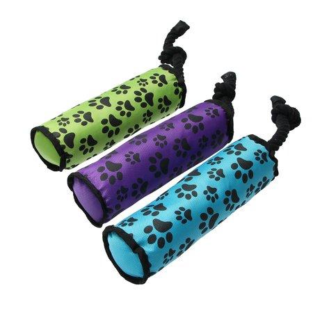 Banzaa Honden speeltouw - flostouw - paars - 47,5 x 7,5 cm - set van 2 stuks