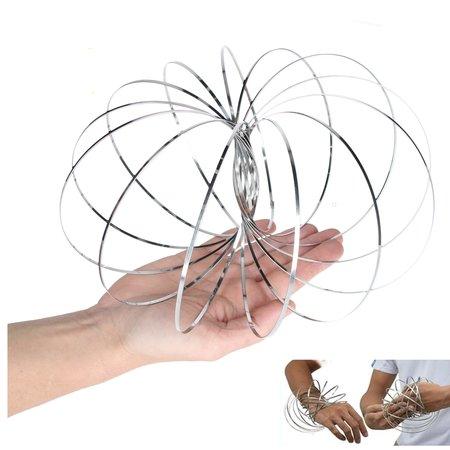 Banzaa Magic flow ring |Spiraal bloem magische armband | 3D ringen set van 3 stuks 13cm