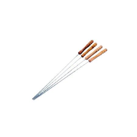 Banzaa Mr BBQ Vleesspies voor Grill Set 12 stuks XL – 40 cm – Vleesspiezen Houten Grip – Barbecue Spiezen – Vleespennen – Lardeernaald