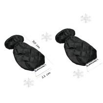 Luxe ijskrabber met handscheon zwart