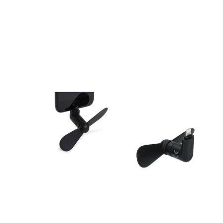Banzaa Out of the Blue Telefoon Ventilator voor Iphone 2 Stuks – Mini Fan voor de Telefoon – Zwart