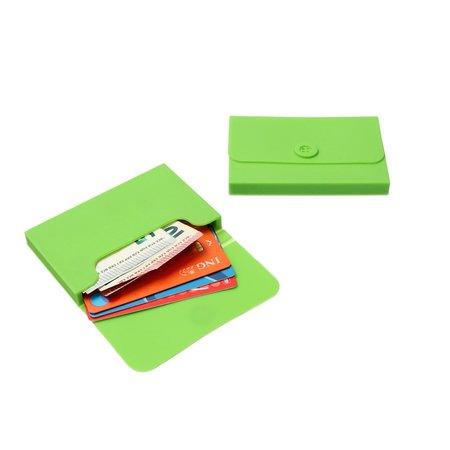 Present Time Present Time Pasjes Houder 2 Stuks – Kaarthouder – Credit Card Holder – Pinpas Portemonnee – Groen