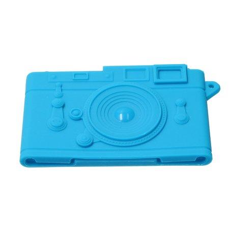 Present Time Present Time Pasjeshouder Camera 2 Stuks – Kaarthouder – Credit Card Holder – Pinpas Portemonnee – Blauw