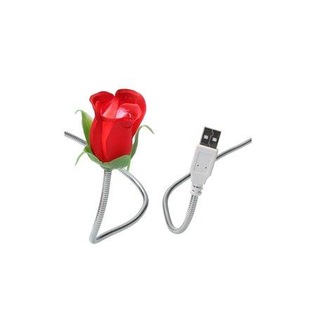 Present Time Silly Gifts USB Kabel Roos met Lampje 2 Stuks – USB Lampje – Verlichting USB – Licht – Rood
