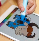 Present Time Present Time Stylus Pen 2 Stuks – Kinder Speelgoed – Krijtje om op Telefoon te Tekenen – Zwart