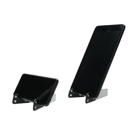 Present Time Present Time Houder voor Telefoon Tablet en Ipad Sleutelhanger 2 Stuks – Standaard voor je Telefoon – Bureauhouder Mobiel – Wit