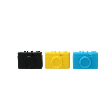 Present Time Present Time Wire Manager In de vorm van een Camera 2 Stuks – Oordopjes Ontknopen – Oortjes Uit Elkaar Houden – Zwart