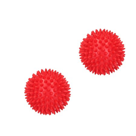 Banzaa Massagebal Professionele Triggerpointbal 7 cm – 2 Stuks – Hoge Dichtheid Massagestekels – Lacrossebal – Rood