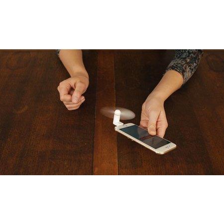 Banzaa Out of the Blue Telefoon Ventilator voor Iphone 2 Stuks – Mini Fan voor Telefoon – Wit