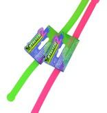 Stretch 2 x-Stretch 2 Glow in the Dark Stretch Stick 2 Stuks – Stress Speelgoed – Tot 3 meter Uitrekbaar – Roze