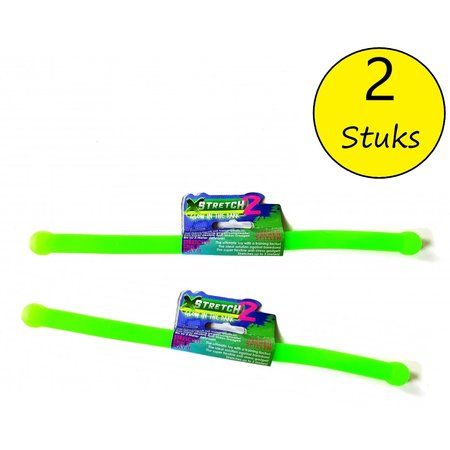 Banzaa xStretch 2 Glow in The Dark Stretch stick 2 Stuks – Stress Speelgoed – Tot 3 Meter Uitrekbaar – Groen