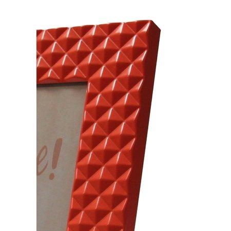 Present Time Present Time Fotolijst met Relief 14x19cm – Neon Oranje Medium