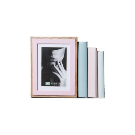 Present Time Present Time Boekensteun en Fotolijst in 1 – Voor in de Boekenkast – Designed by Studio stijll – Afmeting 17x22cm – Roze