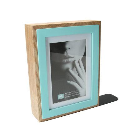Present Time Present Time Boekensteun en Fotolijst in 1 – Voor in de Boekenkast – Designed by Studio stijll – Afmeting 17x22cm – Blauw