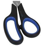 Banzaa Universele Scharen set van 2 Scharen Rechtshandig Rood en Blauw –21x7cm   Schaar om te Knippen   Kantoorschaar   Papierschaar   Keukenschaar   Stoffenschaar