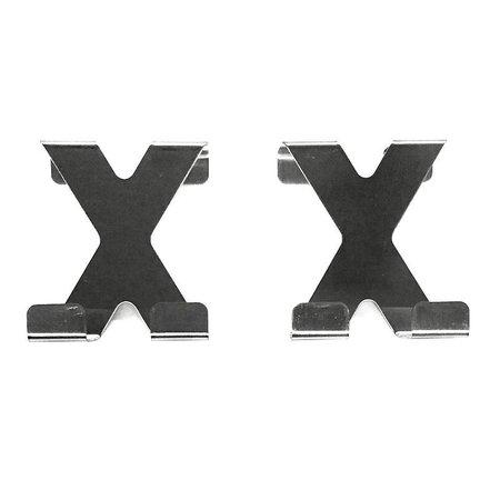 Jedermann Dubbele Deurhaken van RVS Edelstaal 4 Stuks – 7x5cm | Badhaken | Ophanghaken voor Handdoeken | Badkamer Haken | Keuken Haken | Handdoekhaken